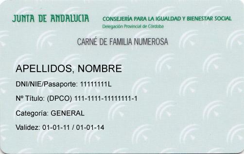 T tulo de familia numerosa asfanuca for Oficina virtual de la junta de andalucia
