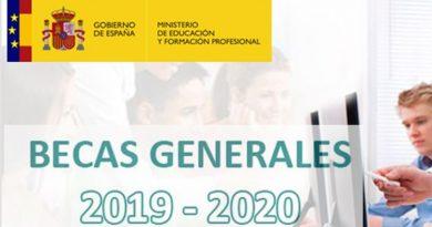 Becas públicas 2019/2020 para estudios universitarios y no universitarios, y ayudas para alumnos con necesidad específica de apoyo educativo