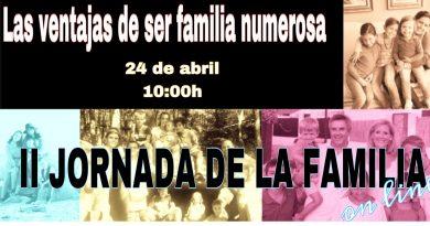 «Las ventajas de ser familia numerosa», II JORNADA DE LA FAMILIA